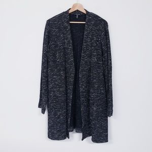 Eileen Fisher Woman Tweed Open Cardigan